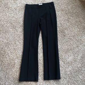 Elle Women's Flare Black Pants W Piping Size 10